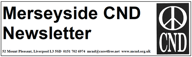 Merseyside CND newsletter header