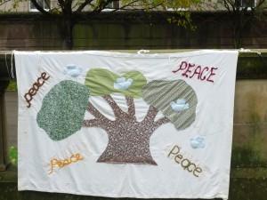 Peace Banner at St John's Garden