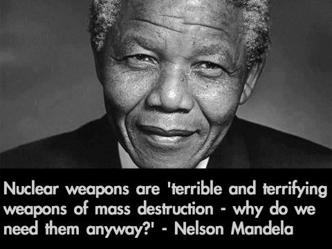Nelson Mandela on nuclear weapons
