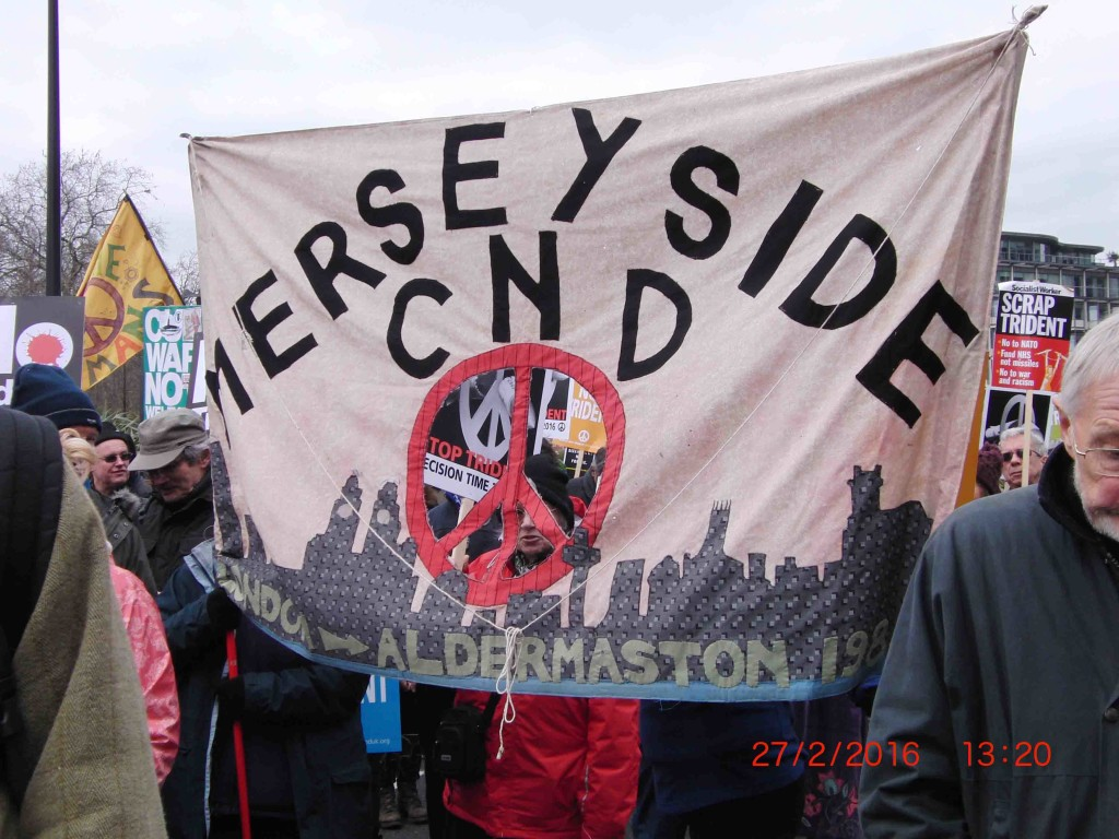 10e 27.2.16 Merseyside CND joins Stop Trident Demo in London